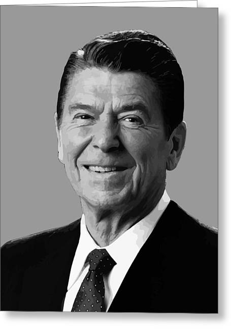 Products Greeting Cards - President Reagan Greeting Card by War Is Hell Store