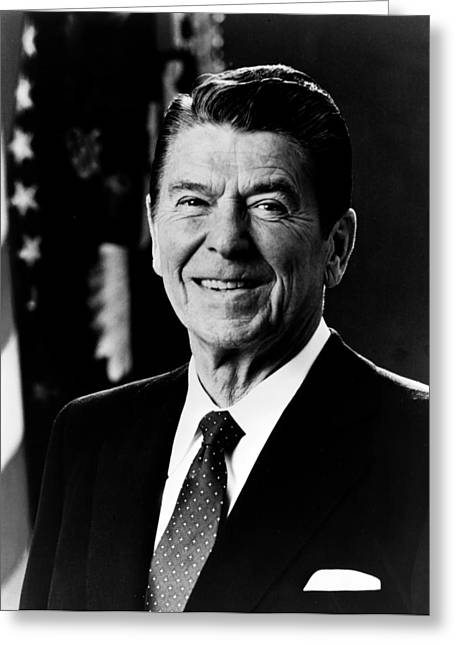American Politician Greeting Cards - President Ronald Reagan Greeting Card by International  Images