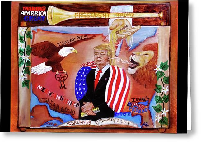 President Trump Greeting Card by Jennifer Page