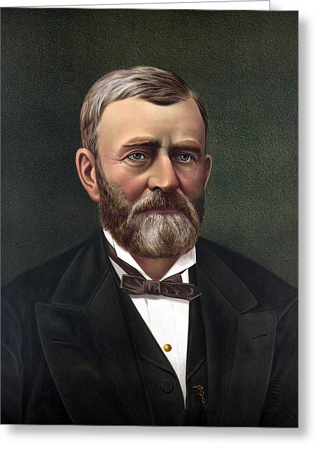 General Ulysses Grant Greeting Cards - President Ulysses Grant Greeting Card by War Is Hell Store