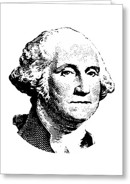 Presidents Digital Greeting Cards - President Washington Greeting Card by War Is Hell Store