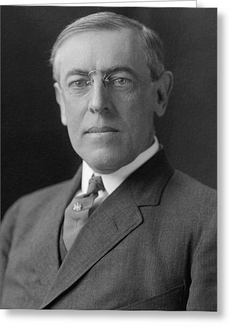 Democratic Party Greeting Cards - President Woodrow Wilson Greeting Card by War Is Hell Store
