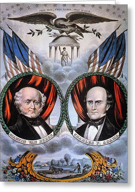 Abolition Greeting Cards - Presidential Campaign, 1848 Greeting Card by Granger