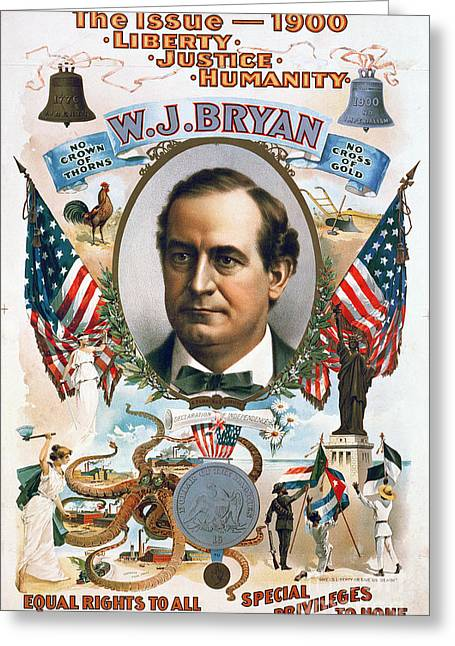 Canvassing Greeting Cards - Presidential Campaign, 1900 Greeting Card by Granger