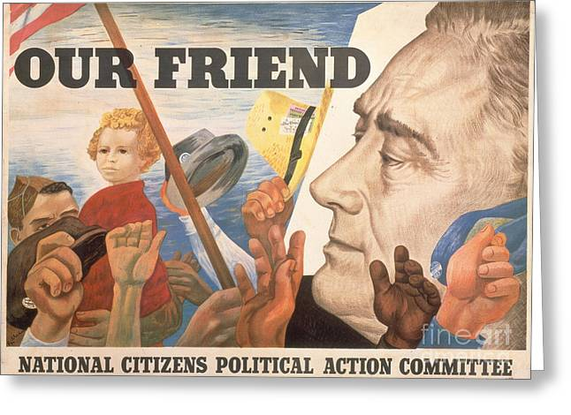 Franklin Greeting Cards - Presidential Campaign, 1944 Greeting Card by Granger