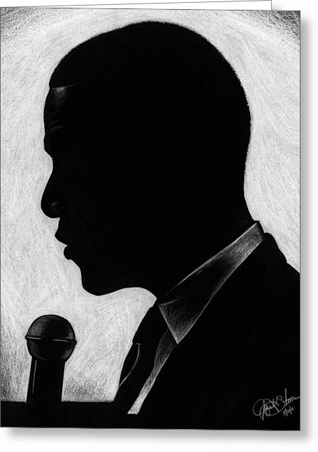 Recently Sold -  - Barack Greeting Cards - Presidential Silhouette Greeting Card by Jeff Stroman