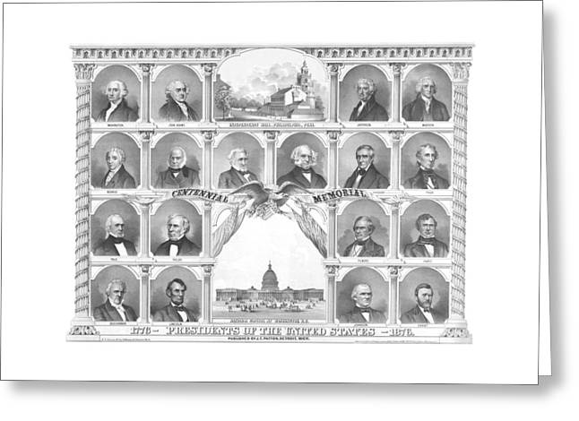 John Quincy Adams Greeting Cards - Presidents Of The United States 1776-1876 Greeting Card by War Is Hell Store