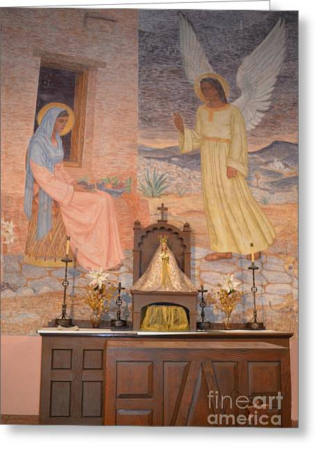 Gold Star Mother Greeting Cards - Presidio La Bahia Mission Greeting Card by Donna Brown