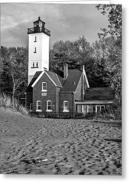 Ocean Sailing Greeting Cards - Presque Isle Lighthouse 2 Greeting Card by Matt Hammerstein
