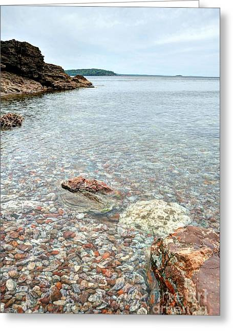 Geology Photographs Greeting Cards - Presque Isle Marquette Michigan Greeting Card by Terri Gostola