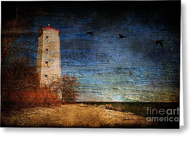 Lighthouse Photography Greeting Cards - Presquile Lighthouse Greeting Card by Lois Bryan