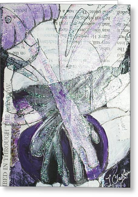 Knelt Mixed Media Greeting Cards - Pretty and Tranquil Greeting Card by Joanne Claxton