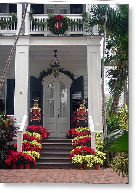 Pretty Christmas Decoration In Key West Greeting Card by Susanne Van Hulst