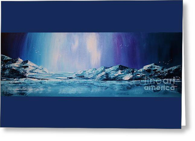Unique Art Greeting Cards - Pretty Cold Greeting Card by Mario Lorenz