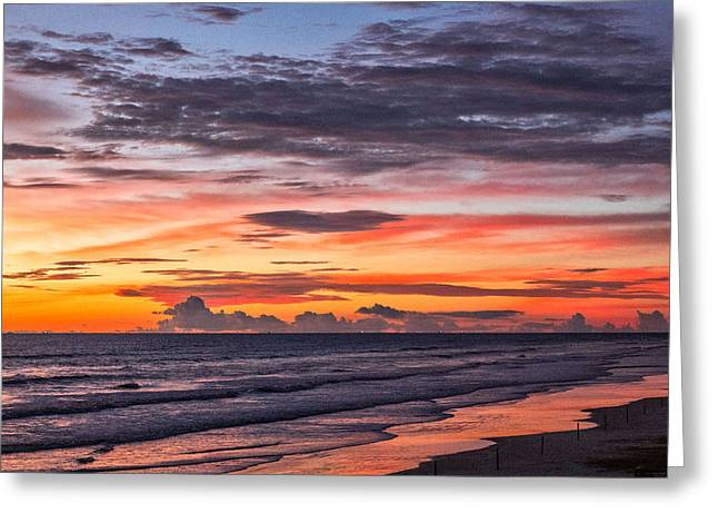 Warm Tones Greeting Cards - Pretty Colors Pre-Sunrise Greeting Card by Ann Flugge