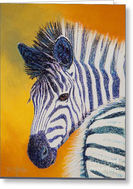 Africa Pastels Greeting Cards - Pretty Girl Greeting Card by Tracy L Teeter