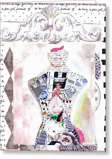 Teen Fashion Greeting Cards - Pretty in Pink Greeting Card by Anahi DeCanio