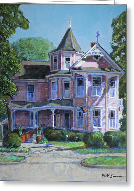 Rood Greeting Cards - Pretty in Pink Greeting Card by David Zimmerman