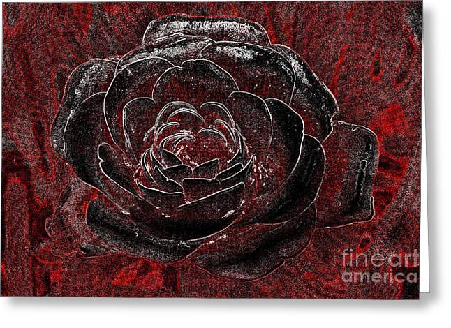 Petal Tapestries - Textiles Greeting Cards - Pretty in Red Greeting Card by Edna Weber