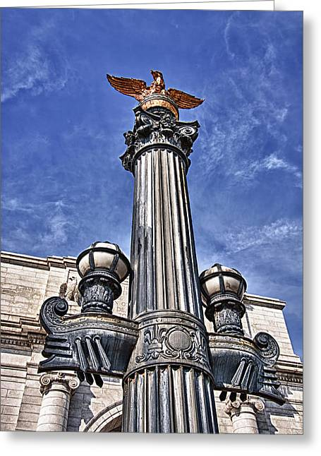 Blackrussianstudio Greeting Cards - Pretty Lamp Post in Washington DC Greeting Card by Val Black Russian Tourchin