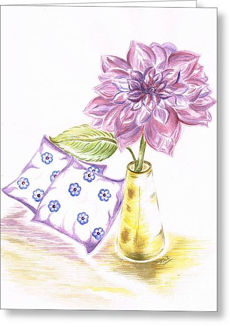 Lounge Paintings Greeting Cards - Pretty Lilac decor Greeting Card by Teresa White