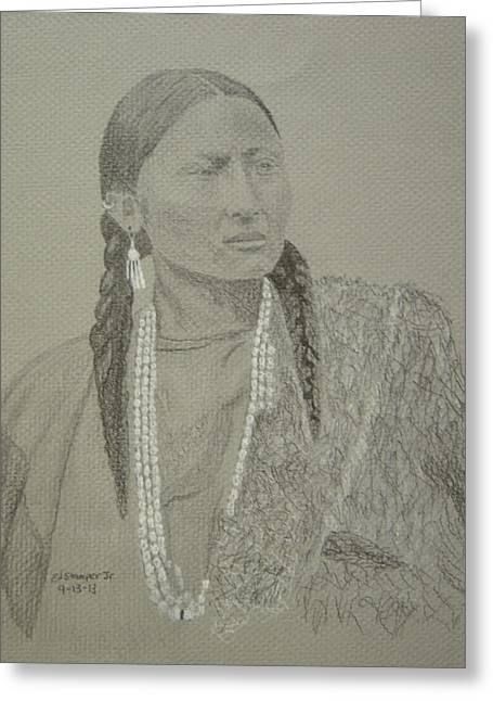 Pretty Nose-northern Cheyenne Greeting Card by Edward Stamper