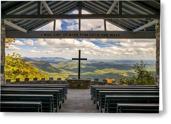 Worshipping Greeting Cards - Pretty Place Chapel - Blue Ridge Mountains SC Greeting Card by Dave Allen