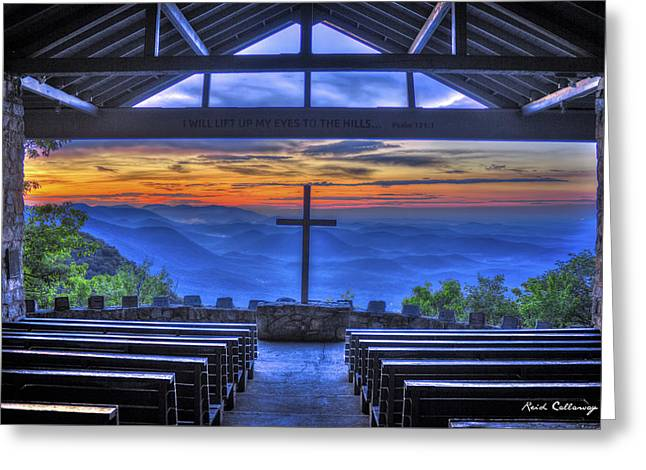 The Nature Center Greeting Cards - Pretty Place Chapel Sunrise 777  Greeting Card by Reid Callaway