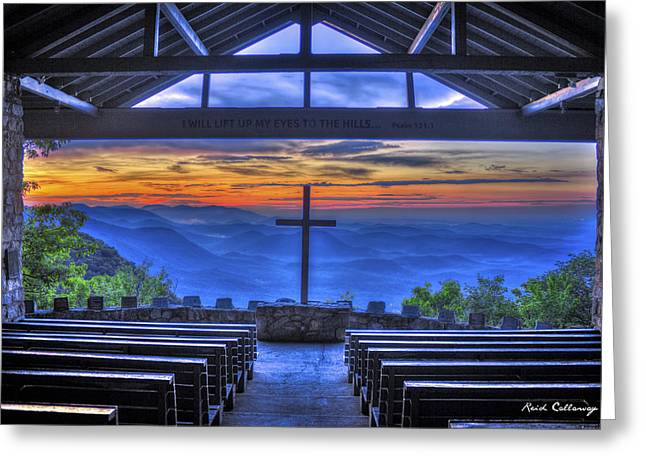 Mountain Valley Greeting Cards - Pretty Place Chapel Sunrise 777  Greeting Card by Reid Callaway