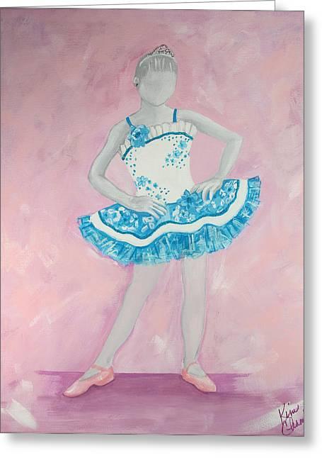 Tiara Paintings Greeting Cards - Pretty Princess Greeting Card by Kim Chambers