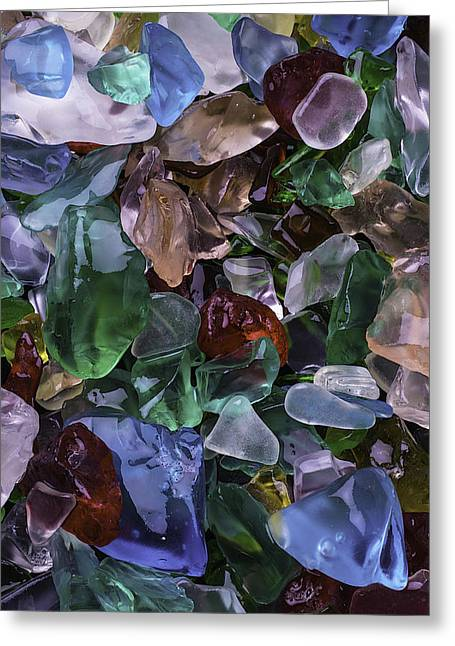 Pretty Sea Glass Greeting Card by Garry Gay