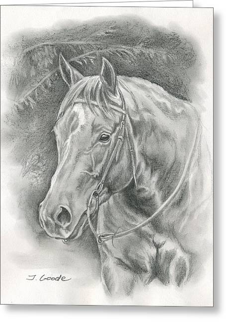 Quarter Horse Greeting Cards - Pretty Sunflower Greeting Card by Jana Goode