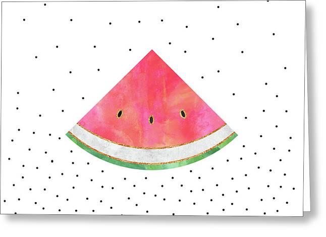 Pretty Watermelon Greeting Card by Elisabeth Fredriksson