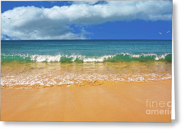 Pretty Waves In Paradise By Kaye Menner Greeting Card by Kaye Menner