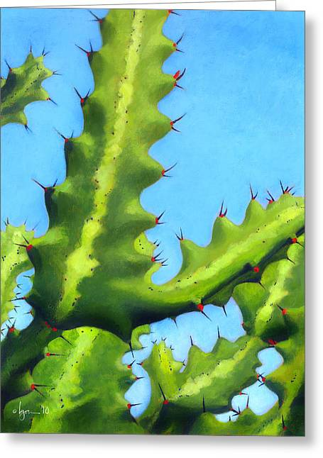 Plastic Drinking Water Bottles Greeting Cards - Prickly Friends Greeting Card by Angela Treat Lyon