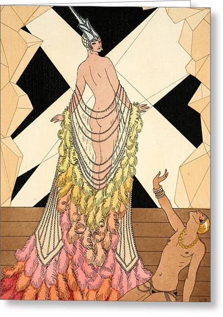 Cabaret Greeting Cards - Pride Greeting Card by Georges Barbier