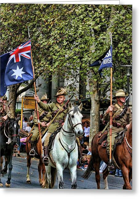 Anzac Greeting Cards - Pride of War and Peace Greeting Card by Douglas Barnard