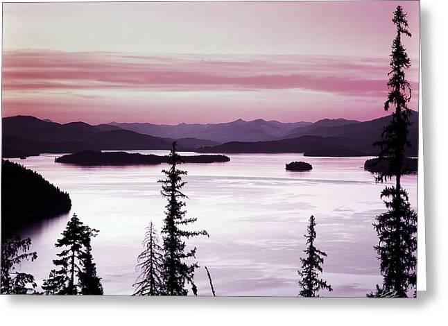 Priest Lake Greeting Card by Leland D Howard