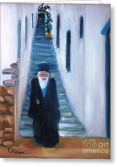 Priest Of Pothia Greeting Card by Therese Alcorn
