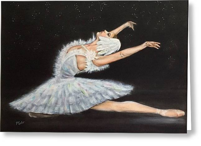 Transfer Paintings Greeting Cards - Prima Ballerina Greeting Card by Dr Pat Gehr