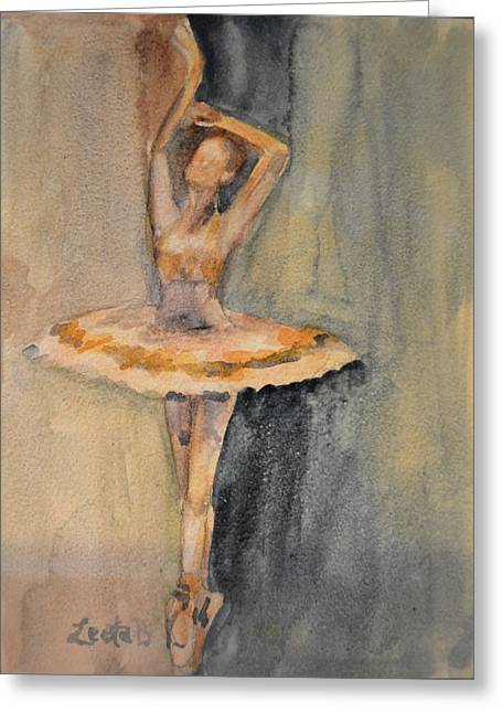 Ballet Dancers Greeting Cards - Prima Ballerina Greeting Card by Lee Bauman