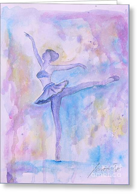 Prima Ballerina Greeting Card by Pristine Cartera Turkus