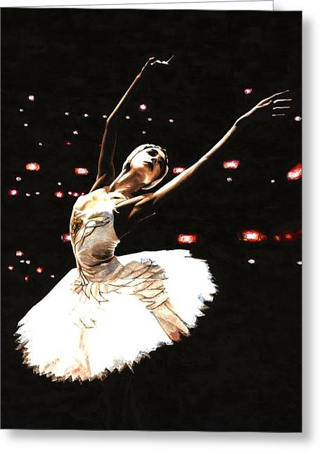 Tutus Paintings Greeting Cards - Prima Ballerina Greeting Card by Richard Young