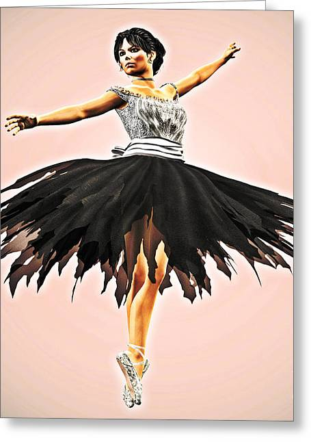 Ballet Dancers Greeting Cards - Prima Donna Greeting Card by Methune Hively