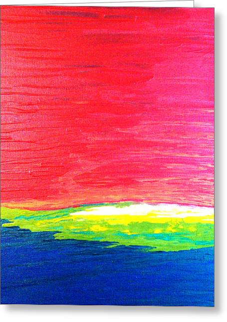 Warm Tones Greeting Cards - Primary Greeting Card by Amanda Schambon