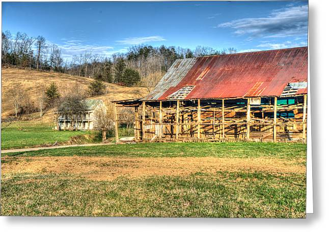 Tin Roof Greeting Cards - Primative Barn and Old Farmhouse Greeting Card by Douglas Barnett