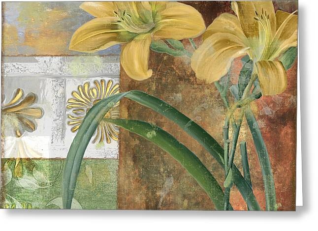Day Lily Greeting Cards - Primavera II Greeting Card by Mindy Sommers