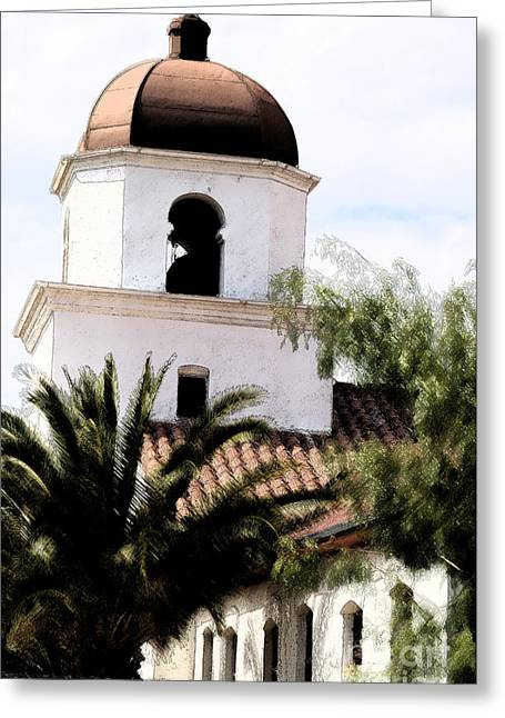 White Clay Greeting Cards - Primera Iglesia Bautista Greeting Card by Linda Knorr Shafer