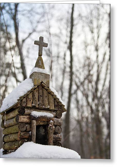 Primitive Greeting Cards - Primitive Church in the Mountains Greeting Card by Douglas Barnett