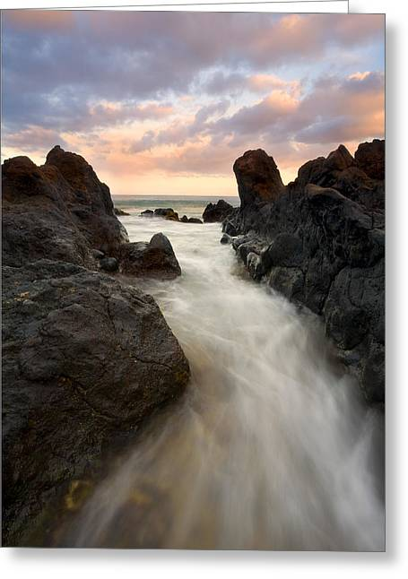 Sunrise Greeting Cards - Primordial tides Greeting Card by Mike  Dawson